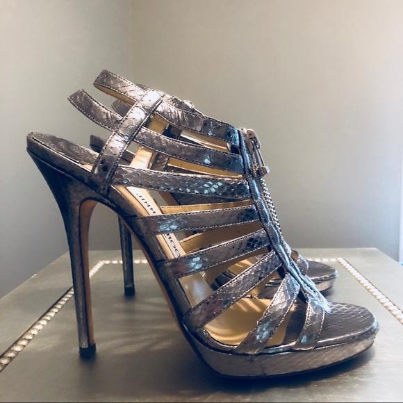 cc9b1d1961198 Jimmy Choo Shoes | Glenys Silver Snakeskin | Poshmark